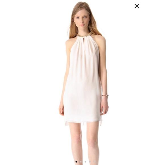 171efb1635 Rebecca Taylor Grecian Sequin halter mini dress
